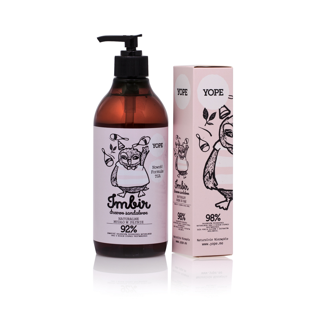 Regenerating Liquid Soap + Hand Cream Ginger & Sandalwood Tree